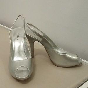 Brand New Silver Xappeal Slingback Heels